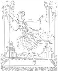Danseuse Aux Jets D Eau George Barbier Art D Co Coloriages