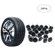 24Pcs Auto Tubeless Tire Tyre Puncture Repair Wired 6mm ...