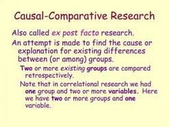 Causal Comparative Study Overview Of Exploratory Descriptive Causal Research In Marketing