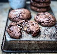 gooey double chocolate chip cookies. Delighful Gooey Just Look At Them Throughout Gooey Double Chocolate Chip Cookies O
