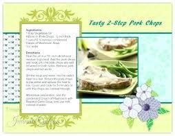 Cookbook Format Template Recipe Format Template Beautiful Standardized Book Best Form