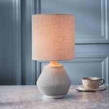 roar rabbit ripple ceramic table lamp small narrow cool grey ceramic table lamps r77