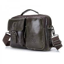 leather briefcase for men messenger laptop bag business messenger bags for doent shoulder handbags