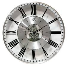large office wall clocks. Home Decor Sunburst Wall Clock Big Silver Indoor Clocks Large Green Office O