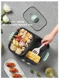 Bếp Nấu Điện 2 Ngăn Đa Năng BEAR DKL-C12D1 | Bếp Nướng & Lẩu 2 Trong 1