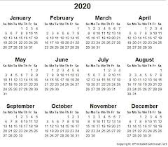 Small Printable Calendar 2020 5 Best Of 2020 Yearly Calendar