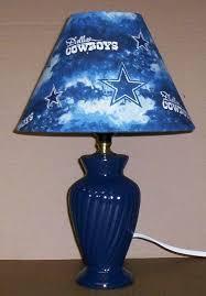 dallas cowboy fabric lamp shade lampshade navy lamp nfl football sports 6459