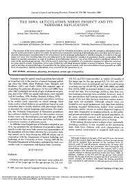 Speech Sound Development Chart Asha Pdf The Iowa Articulation Norms Project And Its Nebraska