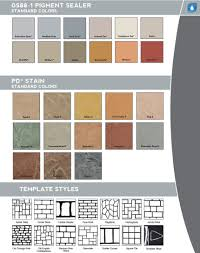 Westcoat Epoxy Color Chart Concrete Stain 3g Concrete Solutions