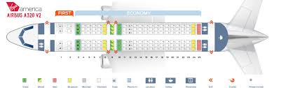 Seat Map Airbus A20 200 Virgin America Best Seats In The Plane