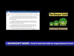 How To Edit Org Chart In Powerpoint Microsoft Word How To Add And Edit An Organizational Chart