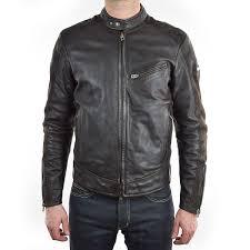 rokker cafe racer leather jacket brown main