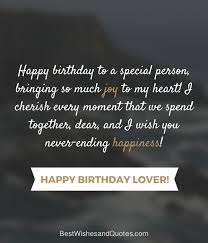 Happy Birthday Love Quotes Impressive Happy Birthday Lover 48 Romantic Quotes Just For Your True Love