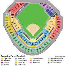 Comerica Field Seating Chart Comerica Park Seating Chart