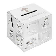 on your christening abc money box gift on