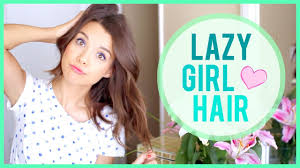 the lazy hair routine