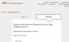 ebay sign in. Modren Ebay Developer Program Registration Dialog Box Inside Ebay Sign In S