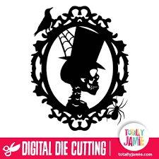 Use this classic spiderweb on your next halloween paper project! Halloween Skeleton Profile Frame Totallyjamie Svg Cut Files Graphic Sets Clip Arts