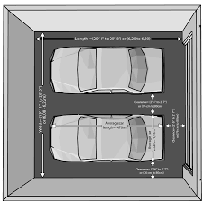 garage size for two cars garage dimensions for two cars garage merements for two