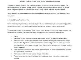 Obituary Template For Word Format Sample Lab Notice Example Uk ...