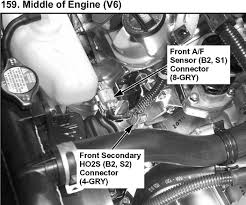 honda accord 2 3 2004 rear o2 sensor wiring diagram 4 wire oxygen 1999 Honda Accord Lx Oxygen Sensor Wiring Diagram 2003 honda accord lx v6 3 0 many o2 sensors does this car have honda accord 1999 Chevrolet Silverado Wiring Diagram