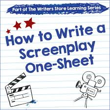 one sheet template download how to write a screenplay one sheet