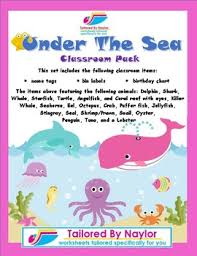Under The Sea Birthday Chart Under The Sea Classroom Items