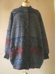 RARE IVA KNIGHT Pure Wool Long Cardigan. Vgc. Size Xl.  70'S,Arty,Vintage,Unusual - £19.00 | PicClick UK