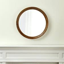 wall mirrors hobby lobby round wall mirrors mango wood mirror crate and barrel pertaining to