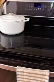 shiny and clean glass cooktop