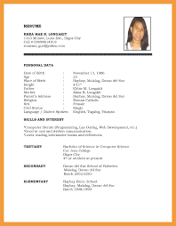 examples of a simple resume 6 simple resume examples resume pdf