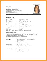 6 Simple Resume Examples Resume Pdf