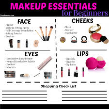 makeup essentials guide for beginners what every needs in her collection when she is just learning how to apply makeup free printable