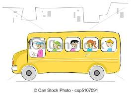 bus drawing for kids. Modren Kids Kids In School Bus  Csp5107091 Inside Bus Drawing For Kids D