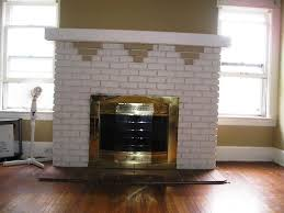 fireplace paint ideasPainted Brick Fireplace Before After Paint The Brick The Same 15