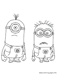 Printable Minions Coloring Pages Inspirational Free Minion For