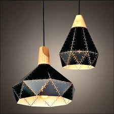 black white iron retro pendant lamps woodmetal diamond lampshade industrial hanging lights industrial style bathroom ceiling lights