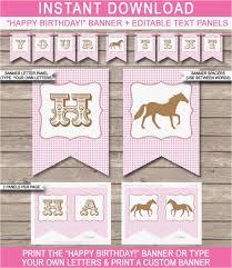 Free Printable Happy Birthday Banner Templates Professional Birthday