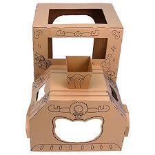 Thomas the train cardboard square easter bucket pail basket percy gordan james. Ibonny Diy Toys Cardboard Train Indoor Playhouse Train Tent Corrugated Coloring Playhouse Buy Online In Guernsey At Guernsey Desertcart Com Productid 71444501