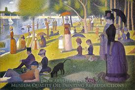 georges seurat sunday afternoon on the island of la grande jatte oil painting reion