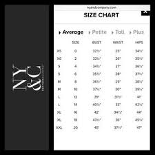 New York And Company Size Chart