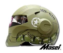green zaku us army stormtrooper 610 motorcycle harley chopper dot