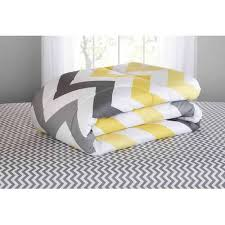 mainstays yellow grey chevron bed in a