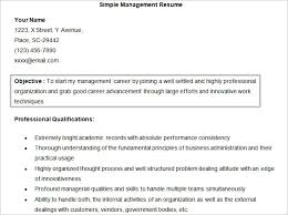 free simple management resume doc template resume management objective