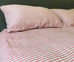 33 homely inpiration red ticking bedding i stripe bed sheets 2 58439 1461162096 1280 jpg c striped set 100 linen handcrafted by