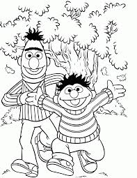 Small Picture Sesame Street Coloring Pages For Toddlers Coloring Home