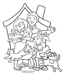 Familie Kleurplaat