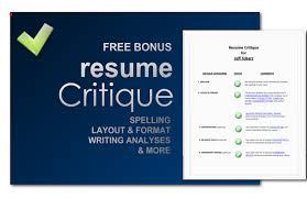 resume critique free