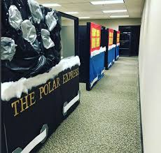 office cubicle decorations. Christmas Cubicle Decorations - Polar Express Office