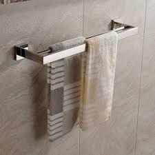 modern towel holder. Polished Nickel Silver Modern Towel Bars Holder